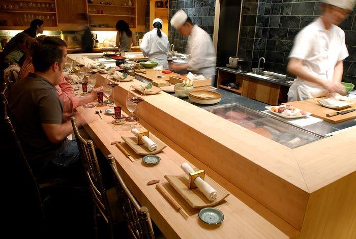 The sushi counter at Jewel Bako