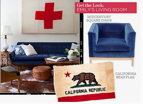Beautiful Vintage Flag + Navy Velvet U003d My Favorite. Emily Henderson U2014 Stylist   BLOG  · Blue Velvet ChairsBlue ...