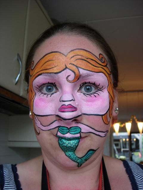My entry for the Mermaid Face Painting Competition at Face Paint Forum.