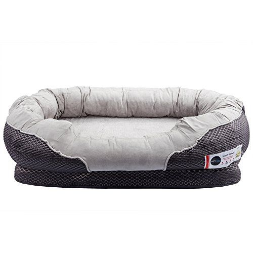 BarksBar Large Gray Orthopedic Dog Bed - 40 x 30 inches - Snuggly Sleeper with Nonslip Orthopedic Foam   Check it out-->  http://cutemypets.us/product/barksbar-large-gray-orthopedic-dog-bed-40-x-30-inches-snuggly-sleeper-with-nonslip-orthopedic-foam/  #pet #food #bed #supplies