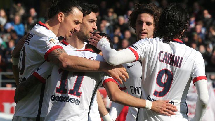 Le PSG sacré champion de France après sa victoire à Troyes (0-9) - Ligue 1 2015-2016 - Football - Eurosport
