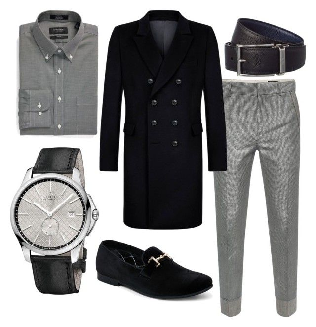 """""""outfit retrosexual de hombre"""" by claudoxia on Polyvore featuring Alexander McQueen, Kumeth, Nordstrom, Steve Madden, Prada, Gucci, men's fashion y menswear"""