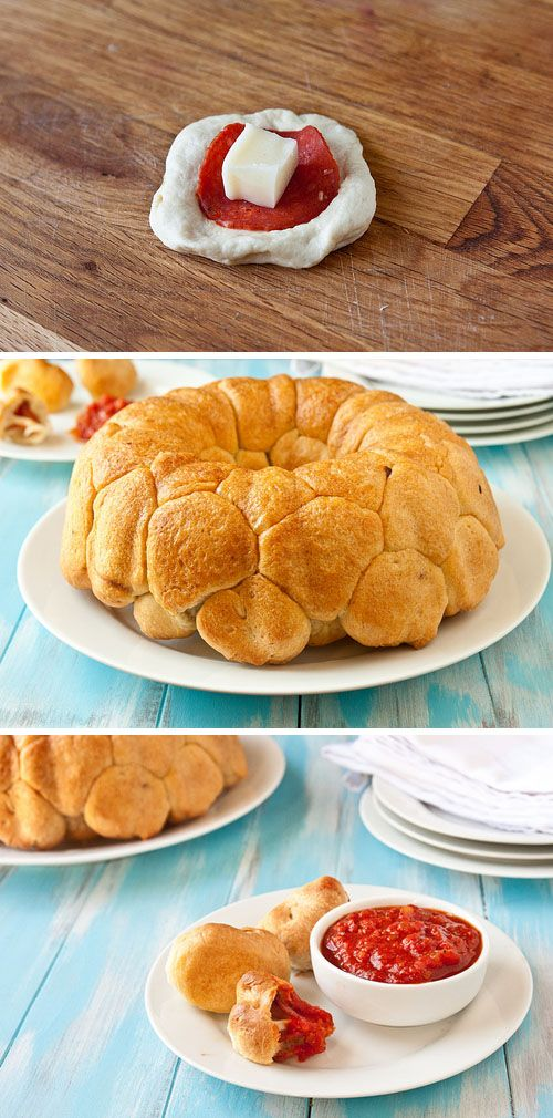 Pepperoni pizza monkey bread | food | Pinterest