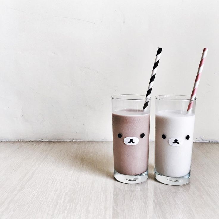 "Eh, tickles my fancy. ""His & hers ( ິ• ﻌ • )ິ #rilakkuma #korilakkuma #milk…"