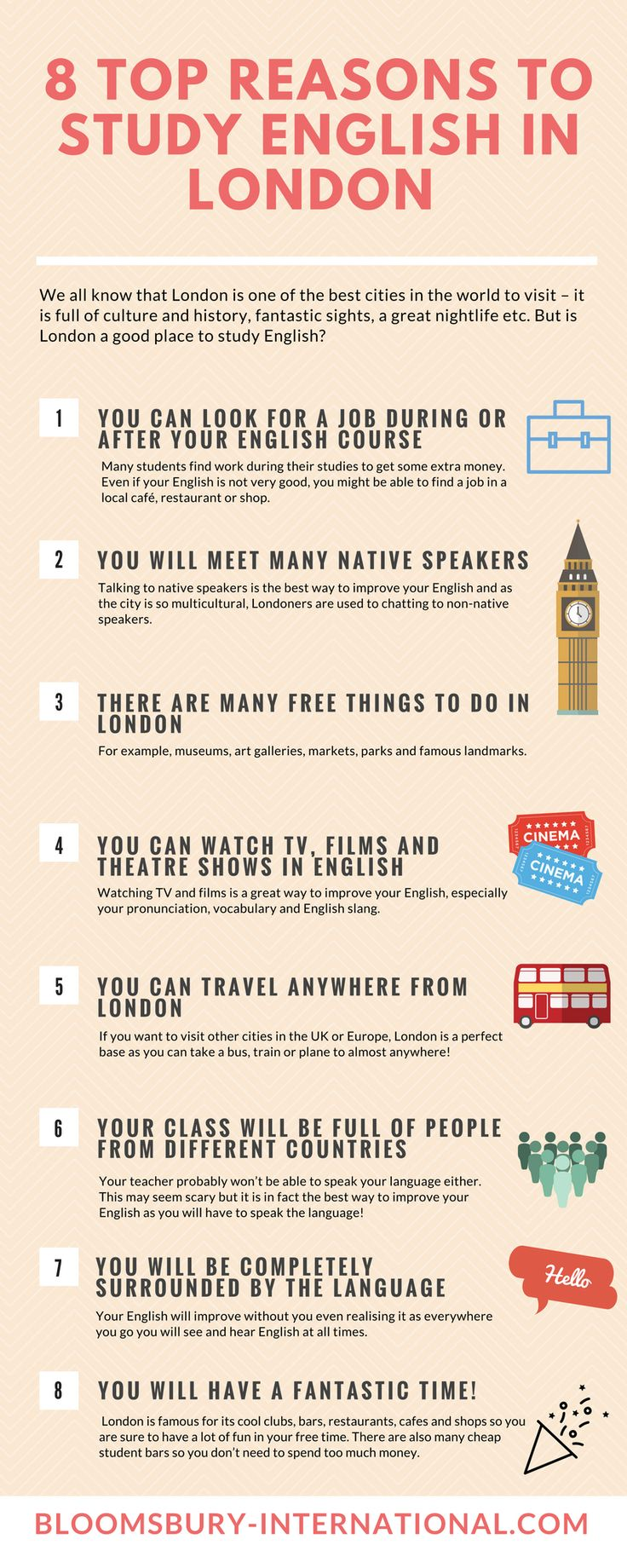 8 Top Reasons to Study English in the UK #infographic http://bit.ly/2mvUxoF