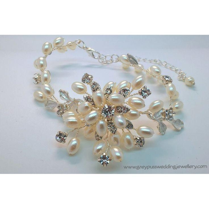 Pearl & Diamante Bridal Bracelet