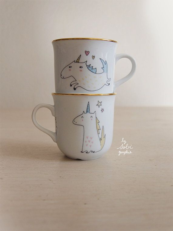 Hey, I found this really awesome Etsy listing at https://www.etsy.com/listing/182278500/1-cup-gold-trim-unicorn-both-sides