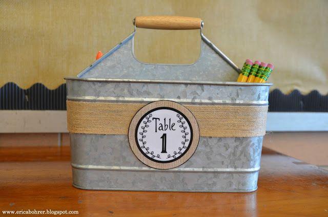 Table Caddies for Student Desk: Farmhouse Style