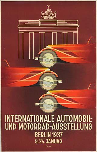 Internationale Automobil und Motorrad Ausstellung - Berlin - 1937 - (Ottomar Anton) -