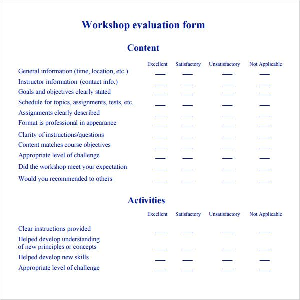 Image result for feedback template for workshop