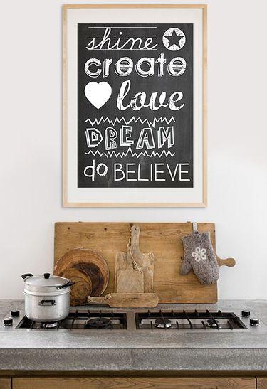 Typografie Poster auf Tafel-Hintergrund