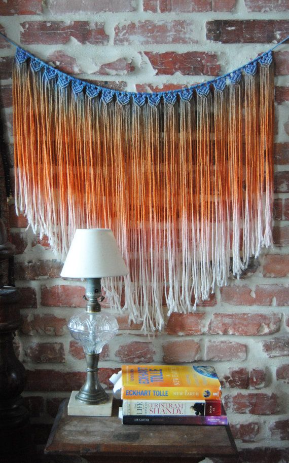 Macrame Wall Hanging by SlowDownProductions on Etsy, $52.00
