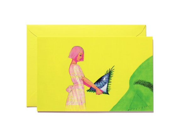 Look at me Art print-Postcard by Pionara on Etsy