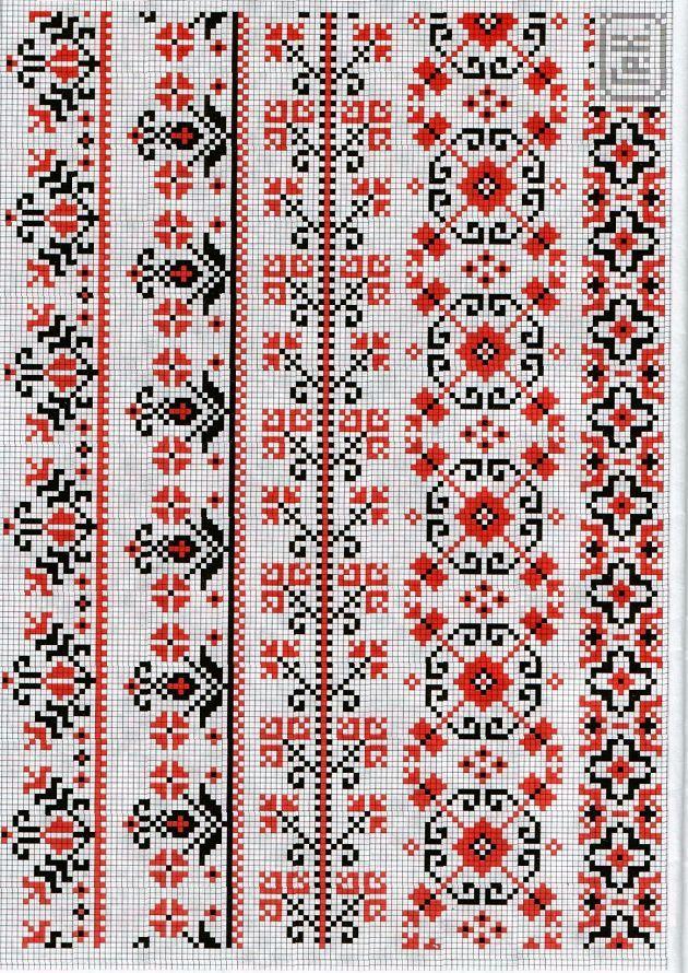 Несколько схем с украинским орнаментом-1Мой любимый бисер| Мой любимый бисер