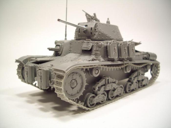 model czołgu 15/42 z żywicy