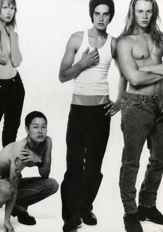 Kirsten Owen and Jenny Shimizu 90's CK one ad