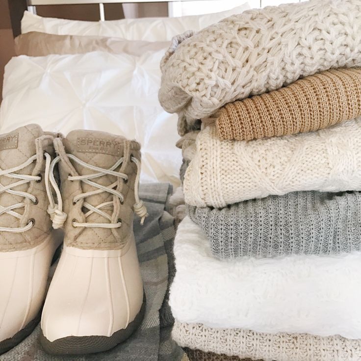 sperry duck boots and cozy sweaters for winter outfits