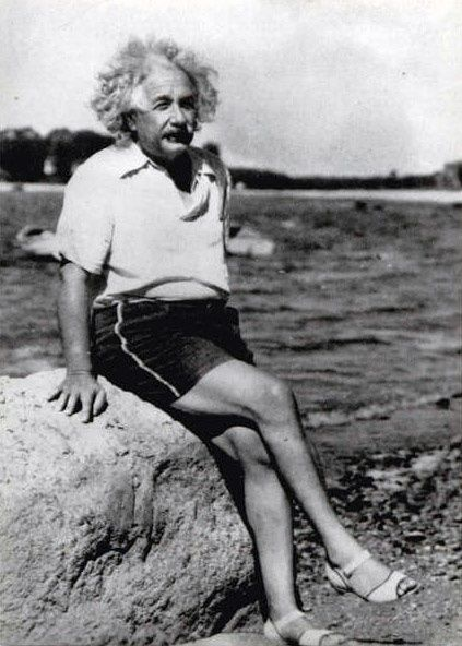 Einstein (b. 1879 Mar14, d. 1955 Apr15 @76) German/Jewish genius, humanitarian scientist...rare pix, lookin' pretty fat & fab in his high heels! he was so ugly he's cute ; ) • http://en.wikipedia.org/wiki/Albert_Einstein