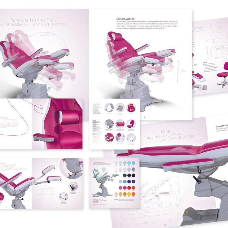 TECNIWORK - Poltrona Gaia Brochure di Prodotto Impaginazione grafica Creativa - fotoritocco