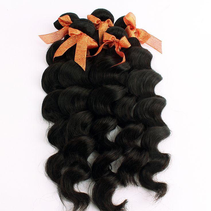 5 Bundles Indian Virgin Hair Wavy Remy Queen Hair Products 100% Unprocessed Human Hair Weave Hair Extensions Black Wavy Bundles