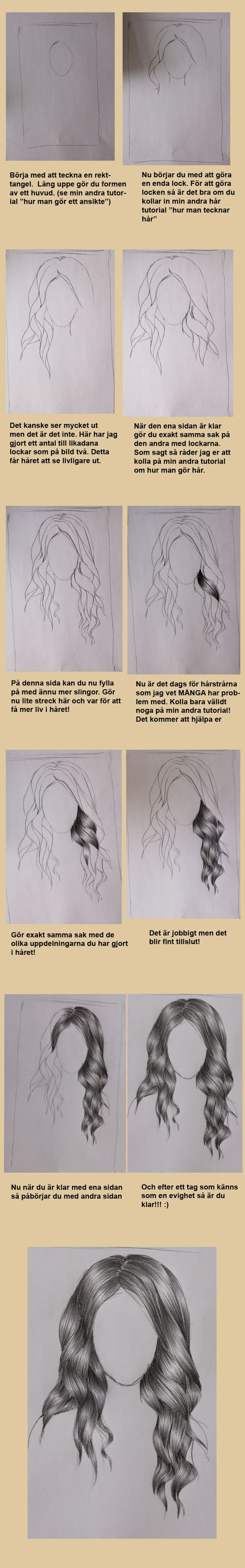Hur man tecknar lockigt hår!