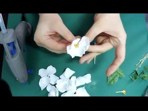 МК Шиповник из фоамирана - YouTube