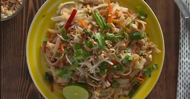 Le meilleur pad thaï au poulet maison