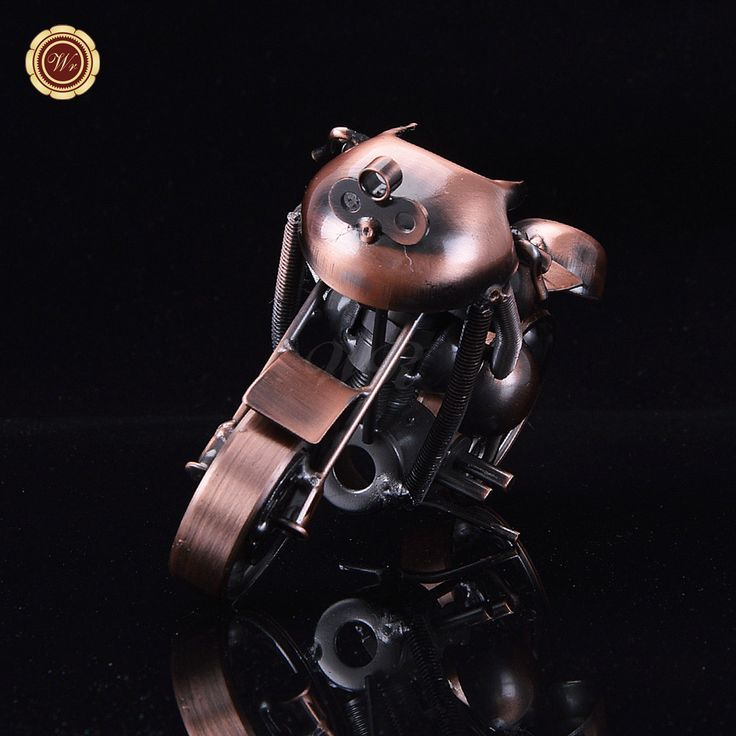 WR Sports Bike Model Motorcycle Decoration Antique Imitation Metal Model New Year's Toys Office Decor