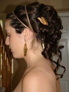 O penteado de deusa grega