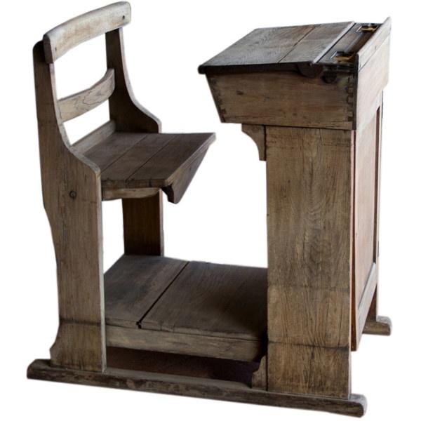 Antique Wood School Desk Antique Furniture