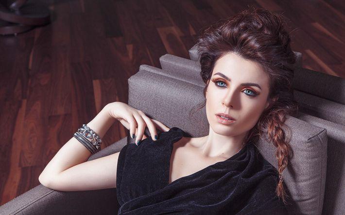 Lataa kuva Valoisa Neitsyt, 4k, turkin näyttelijä, kauneus, ruskeaverikkö