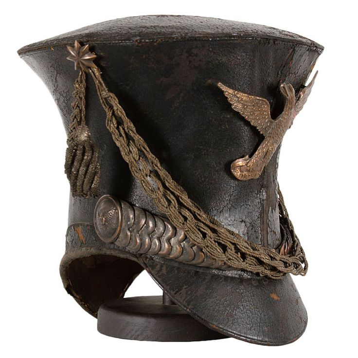 "American Military Bell Crown Shako Or ""tar Bucket"" Cap  /1821-1830 Found in a House in Chambersburg, Penn. Jeff Bridgman Coll."