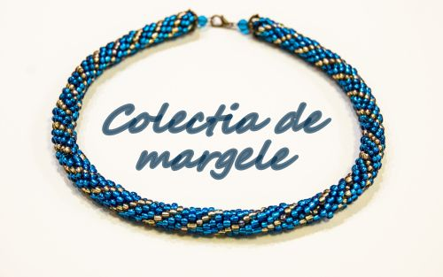 Bright stars - crochet beading necklace by Colectia de margele
