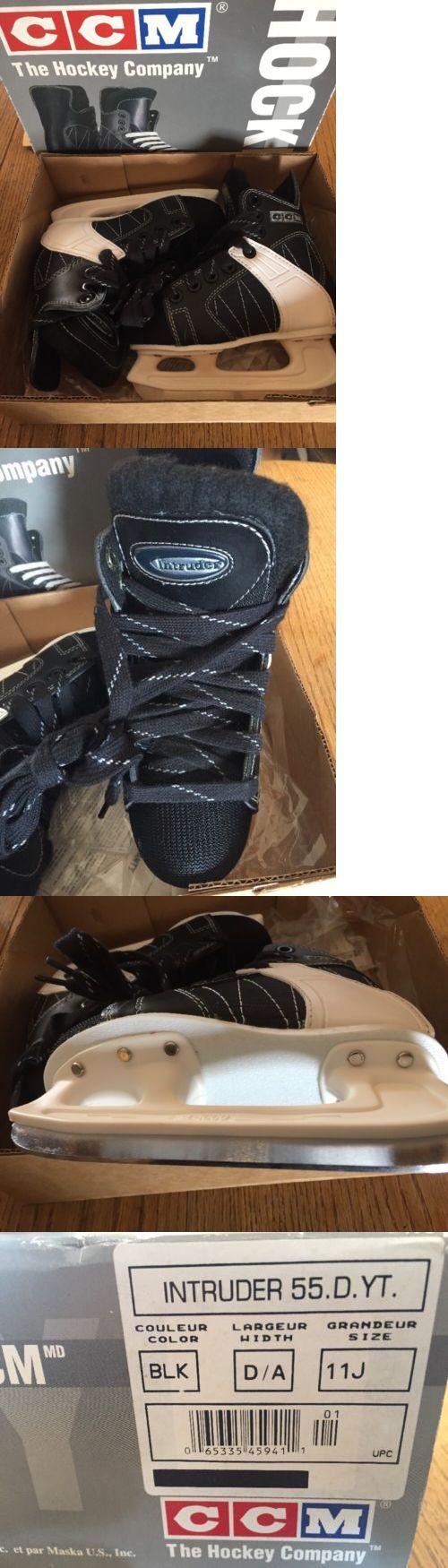 Ice Hockey-Youth 26342: Ccm Ice Hockey Skates Intruder 55 Youth Junior Size 11 J New -> BUY IT NOW ONLY: $42.59 on eBay!