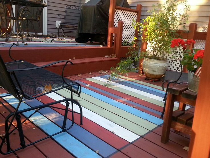 Painted deck floor by Trudy A.