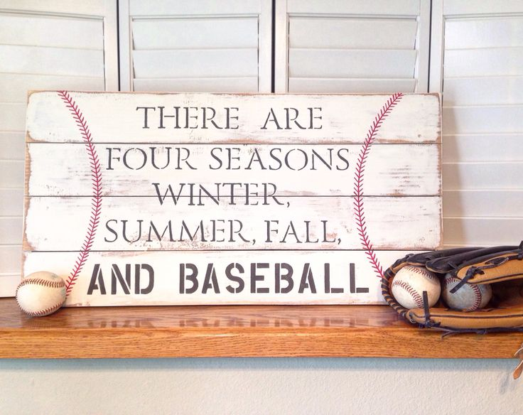 Baseball season rustic pallet sign