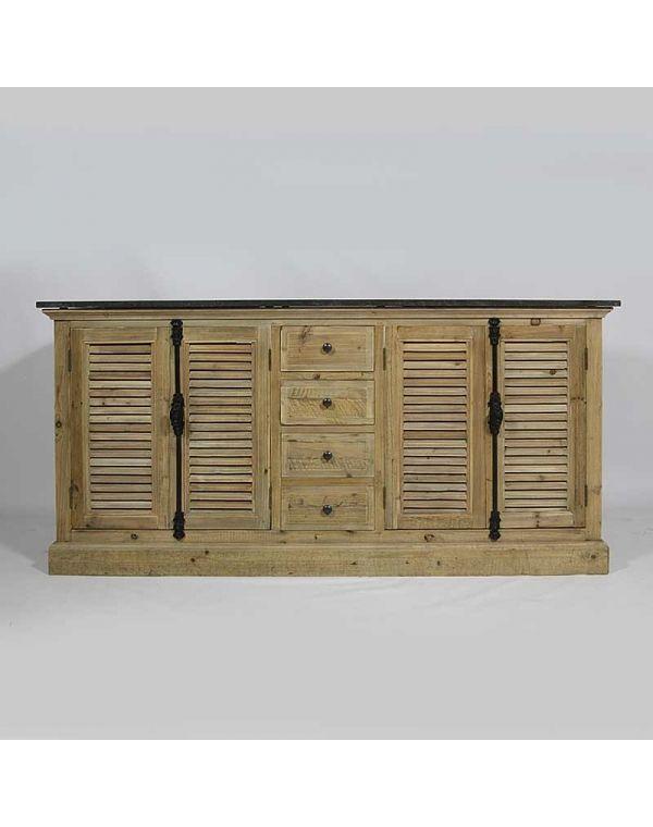 meuble de salle de bain en bois recycl 2 vasques plateau