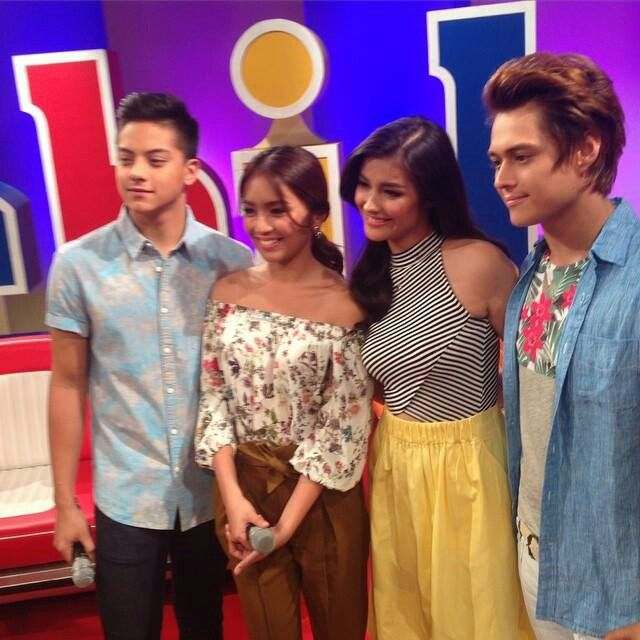 This is Daniel Padilla, Kathryn Bernardo, Liza Soberano, and Enrique Gil smiling for the camera during ASAP Chillout at ABS-CBN Studio 10 at the ABS-CBN Compound in Quezon City last May 24, 2015. Indeed, KathNiel and LizQuen are my favourite Kapamilya love teams, and they're amazing Star Magic talents. #KathrynBernardo #TeenQueen #DanielPadilla #KathNiel #KathNielBernaDilla #LizaSoberano #AteHopie #EnriqueGil #LizQuen #ASAPChillout #ASAP20 #ASAPRainOrShine