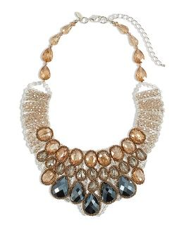 Chico's Wynni Beaded Bib Necklace.  A statement necklace always makes a great holiday gift! Sponsored.
