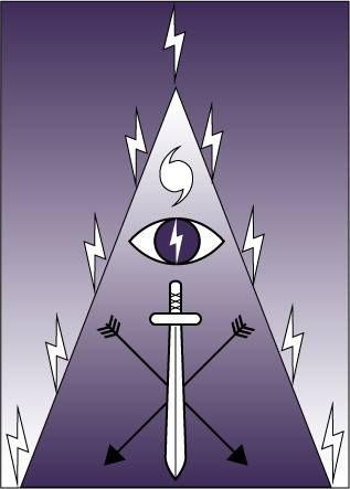 Sigil/symbol for the Orisha Oya. Can be carved into candle ...