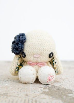Lue and Sue: Crocheted White Bunny