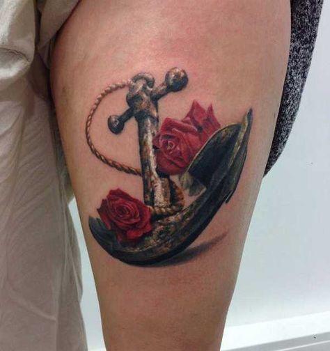 . . Artist: Mannheim Ink Heute zählt man das Anker-Tattoo-Motiv, mit dem Oberbegriff Nautik, zu den Traditional-Tattoos . Ursprünglich kommt der Anker aus der Seefahrt und hat die Bedeutung: Der Träger der Anker Tätowierung hatte den Atlantischen Ozean überquert. Inzwischen steht der Anker als…