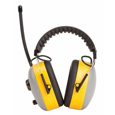 These high performance ear muffs are the Portwest PW46 Radio Ear Protector. It offers excellent noise reduction with it's radio ear protection. It has a frequency range of FM 88 - 108M Hz, and conforms to EN352-1 and En352-4.