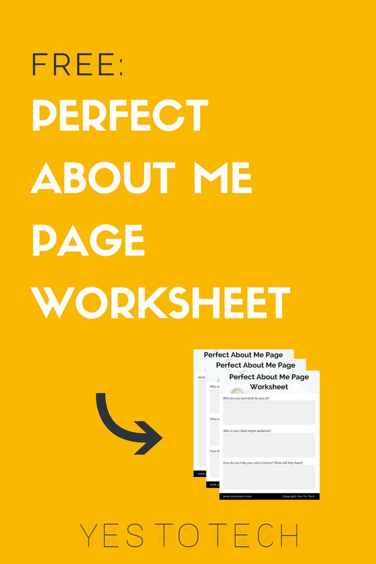 Want to learn how to create a killer About Me page that turns your site's visitors into fans for life? Download the free Perfect About Me Page Worksheet!