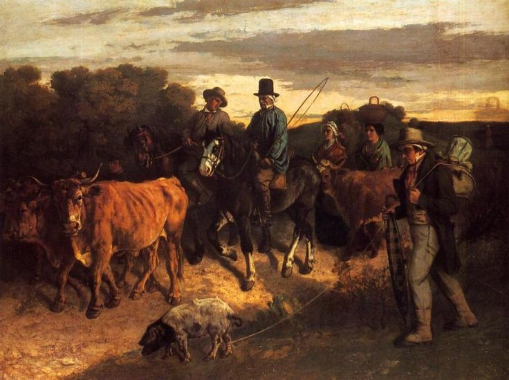 Courbet, Peasants of Flagey Returning from the Fair, 1850-55