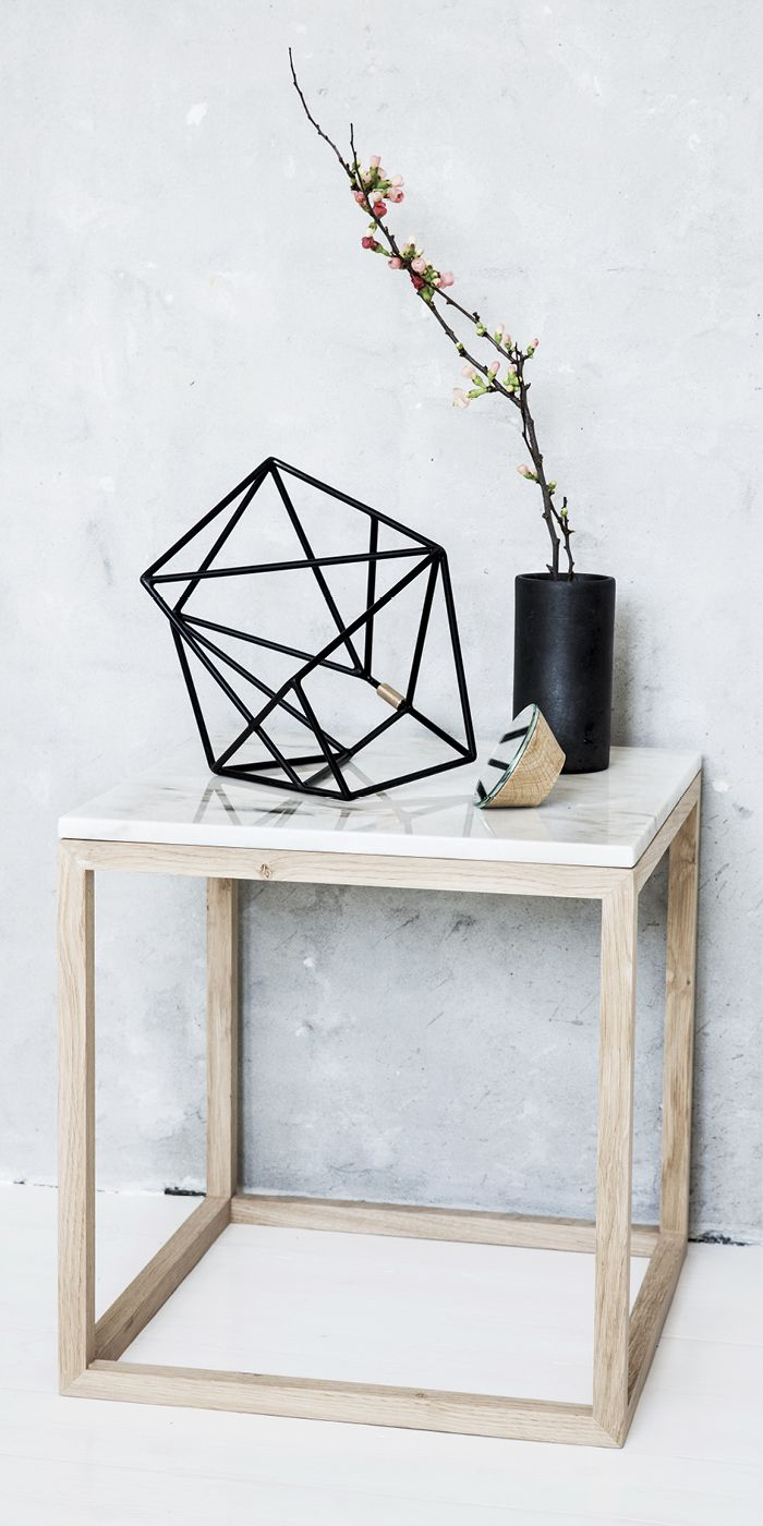 The Cube table + Diamond Sculpture | Kristina Dam Studio