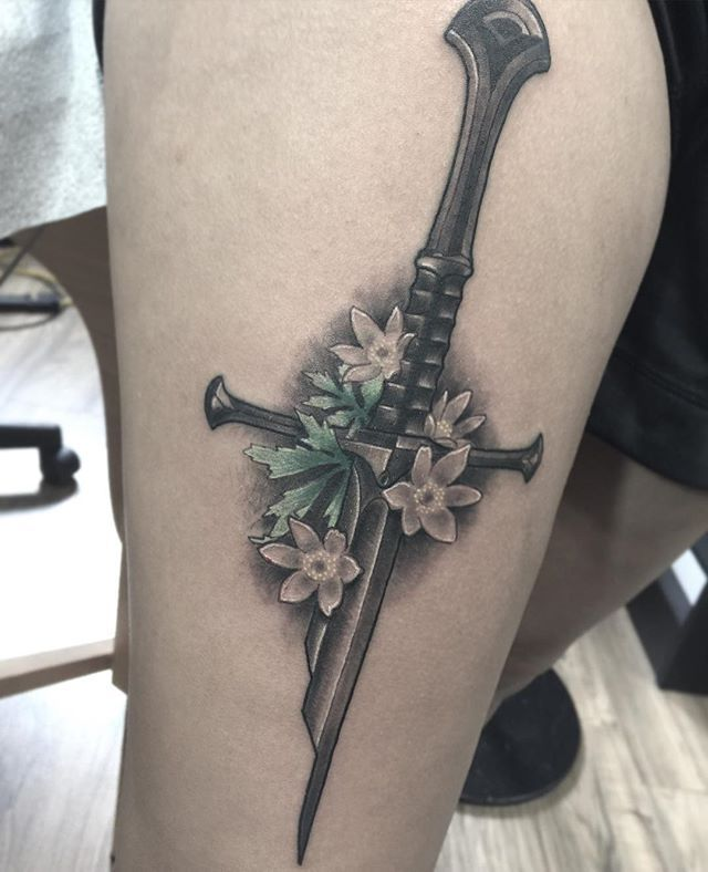 17 Best Ideas About Sword Tattoo On Pinterest