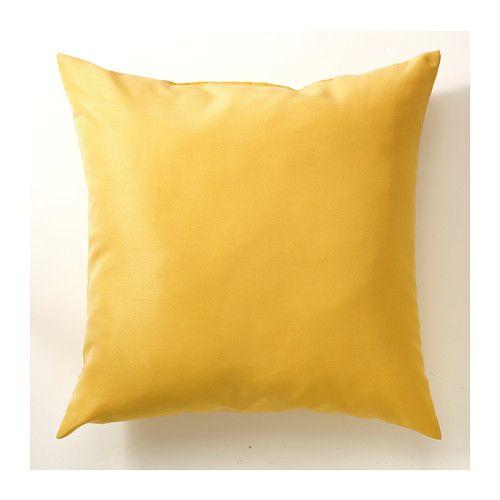 ULLKAKTUS Cushion, dark yellow dark yellow 50x50 cm