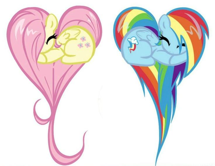 Fluttershy and Rainbow Dash!