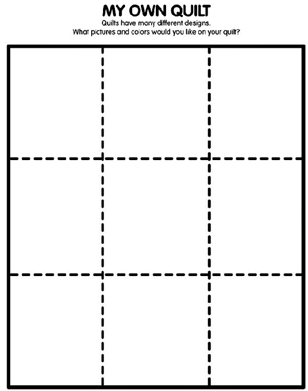 When talking about squares, print out this page and let